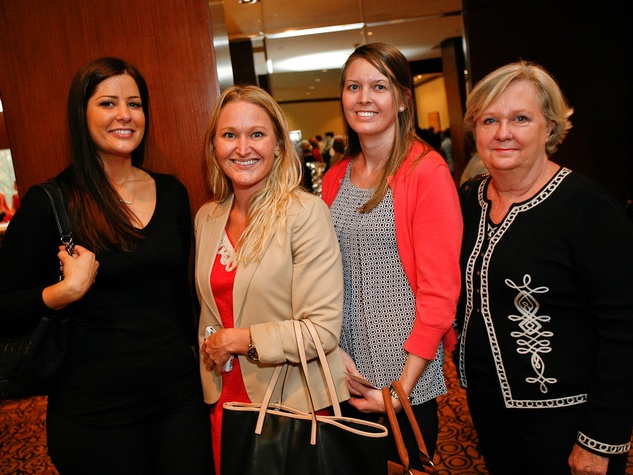 8 Erin Marzouki, from left, Ellen Pennington, Melissa Stevenson and Shana Oliver at the Celebration of Champions luncheon October 2013