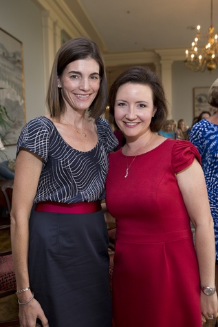 Liz Stepanian, left, and Lauren Burke at the Small Steps Nurture & Nourish Luncheon September 2014