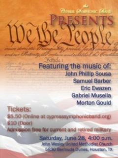 "Cypress Symphonic Band presents ""We the People"""