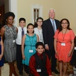 New, Shelby, Communities in School gala, April 2015, Spring Branch ISD Superintendent Duncan Klussmann and students from Spring Woods Middle School