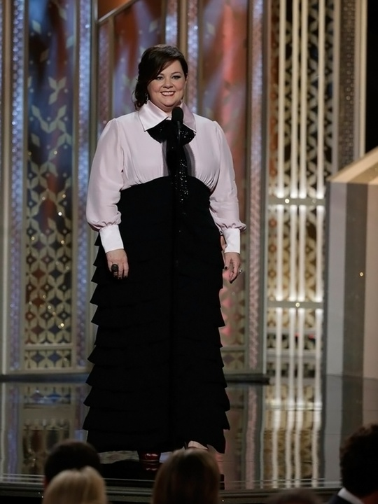 106 Melissa McCarthy Golden Globes fashion January 2015