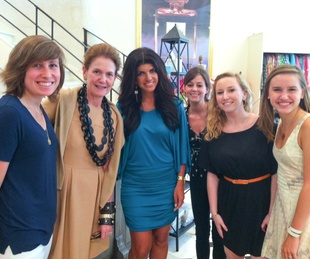 Teresa Giudice Housewives of New Jersey celeb siting in Houston