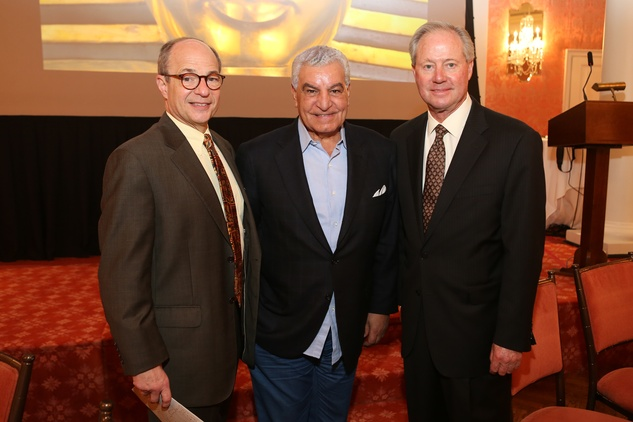 News, Shelby, Houston Museum of Natural Science Luncheon, Oct. 2015, Sam Stubbs, Zahi Hawass, Ernie Cockrell