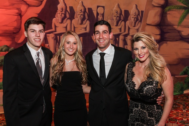Peter Geib, from left, Lauren Foyt and David and Tiffany Wanja at the Winter Ball January 2015