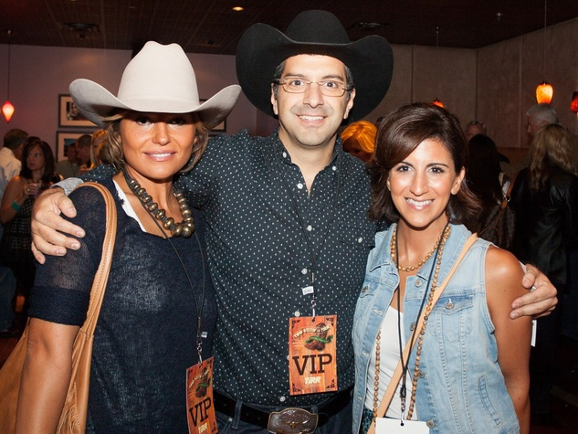 Selin and Sy Salerian, from left, with Pauline Borally at Two Steppin' with TIRR Concert with Jerry Jeff Walker and Clay Walker October 2014