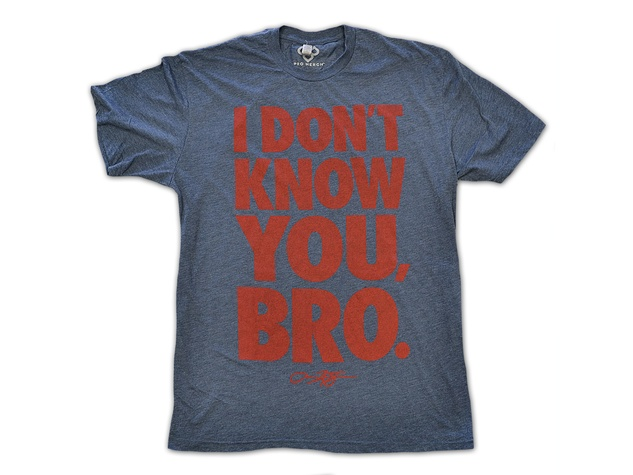 Target and Arian Foster September 2013 men's T-shirt I Don't Know You, Bro