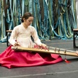 3, Performer Na Jung Jin plays the gayageum (a strung Korean zither)  in From my Mother's Mother
