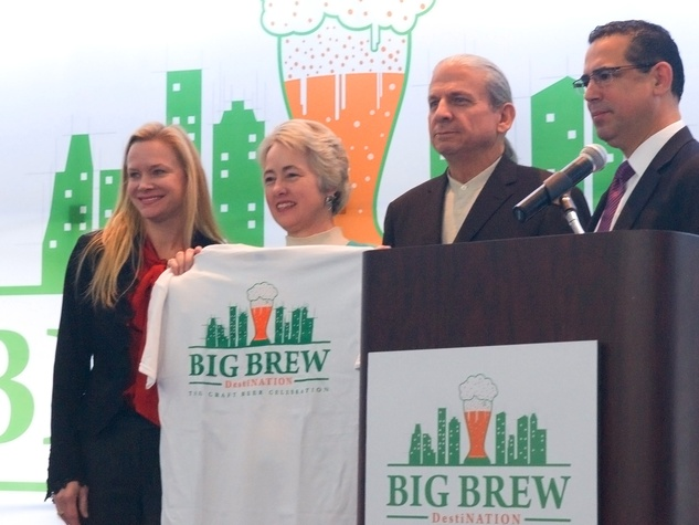 Big Brew beer festival announcement at George R. Brown Convention Center January 2014