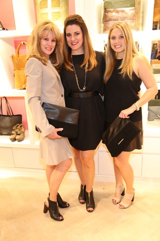 Co-Hosts Laura Heatherly, from left, Elaine Turner and Jessica Beutler of MAC Presents at Elaine Turner New York Fashion Week launch party September 2014