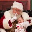 18 Tristan Trudeau and Santa at the M.D. Anderson Breakfast with Santa December 2014