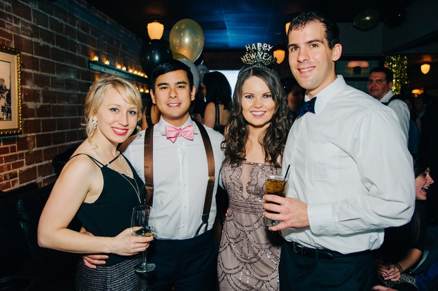 Stephanie Matyas, from left, Andrew Tabije, Paula Timonic and C.J. Wagner at New Year's Eve at Local Pour January 2015