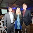 54 Barrett Bogatto, from left, Christina Berg and Matthew Mealey at the Houston Zoo Ambassadors Gala February 2015