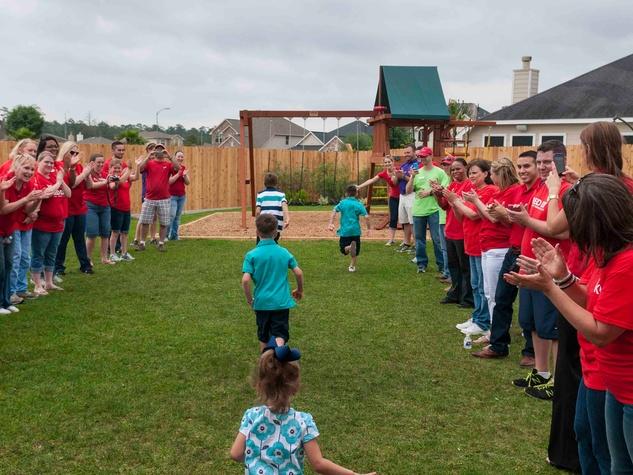 Gracepoint Homes and Keller Williams home renovation surprise May 2014 Playground