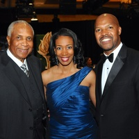 Frank Robinson, from left, with Stacey and Bo Porter at the Legacy Gala December 2014