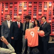 Bryan Salazar signs with Dynamo, group shot, February 2013