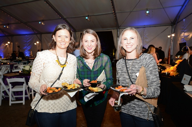 62 Lisa Mason, from left, Katie Stein and Laura Garcia at the Houston Zoo Ambassadors Gala February 2015