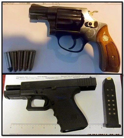 Firearms confiscated by TSA