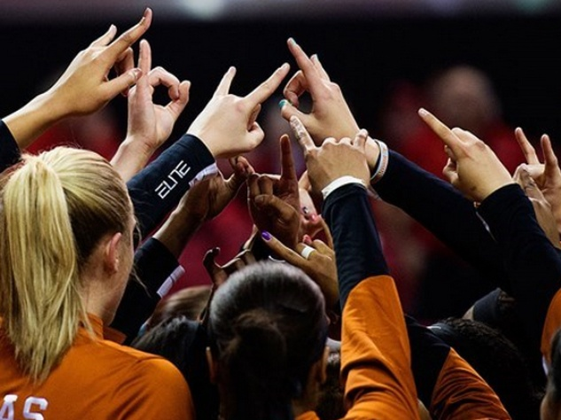 University of Texas Longhorns Women's Basketball Team Hook Em