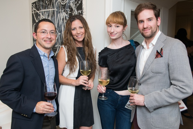 11 Joseph and Meredith Gomez, from left, Jessica Roper and Arturo Muñoz at the HGO Young Patrons Kick-off September 2014