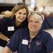 Dr. Frances Jones and Woodrow Holland at The Society for Leading Medicine Houston Texans Family Field Day May 2014