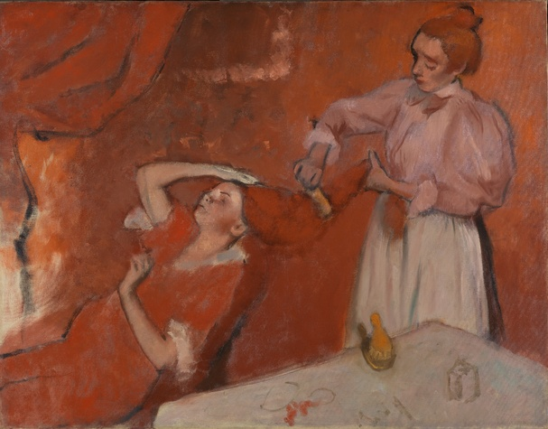 Degas: A New Vision, Group of dancers (red skirts)