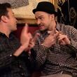 Justin Timberlake and Jimmy Fallon doing hashtags