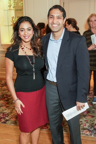 City ArtWorks luncheon Rachel and Raj Duvvuri