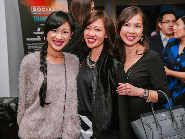 7 Fifi Phi, from left, Issa Chou and Michell Luong at the CultureMap Social at Saint Genevieve October 2013