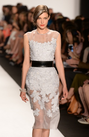 Carmen Marc Valvo spring 2015 collection cocktail dress