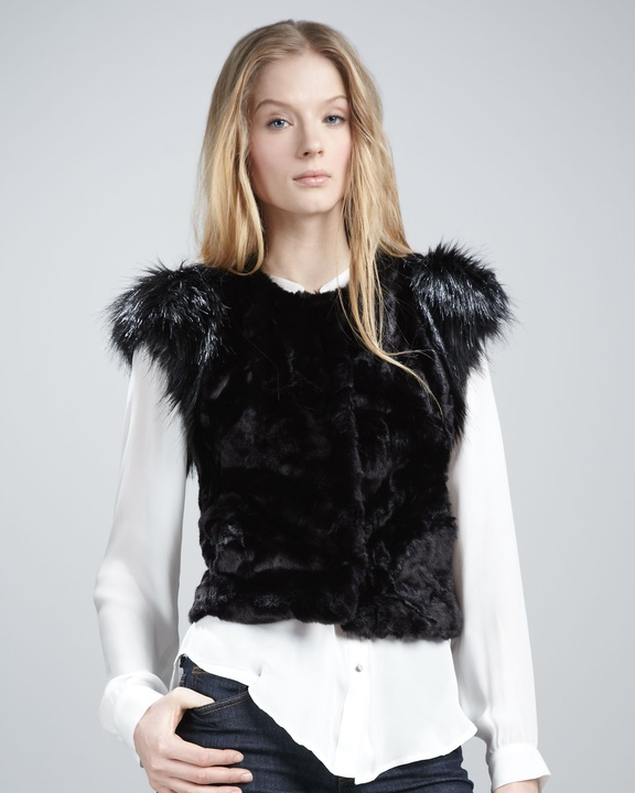 Skaist-Taylor faux fur vest from Neiman Marcus + Target Collection