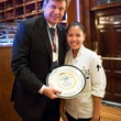 Gracie Nguyen SXSW crash pastry chef at Mark's American Cuisine March 2014 with award