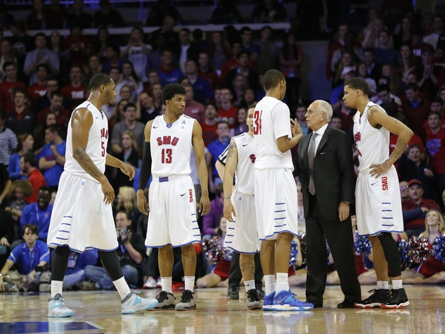 Larry Brown and SMU men's basketball players
