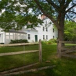 On the Market Renee Zellweger 1774 house in Conneticut September 2014 back of house with gate