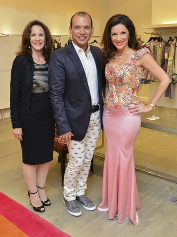 22 Elaine Hale, from left, Alex Martinez and Alex Blair at the International Mother's Day Soiree May 2014
