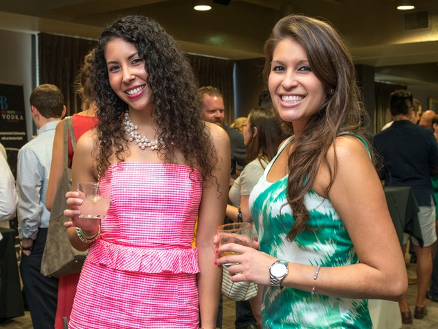 4 Mari-Ann Montoya, left, and Salice Sanders at the Crafted mixology contest at Mr. Peeples July 2014