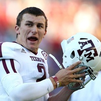 Johnny Manziel Texas A&M football player making a face