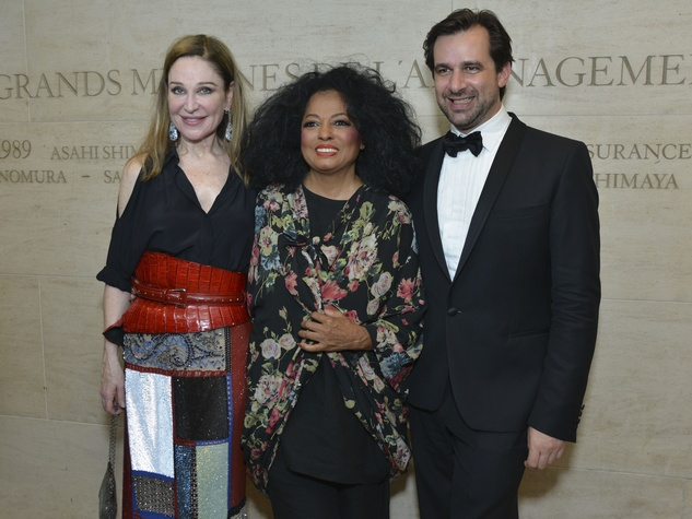 Becca Cason Thrash, Diana Ross, Stephane Gershel at Louvre party