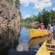 Canoeing in Canada on family vacation