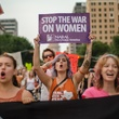 Stop the war on women protestor