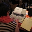 Inprint writing poetry for guests at the CounterCurrent Kick-Off March 2014