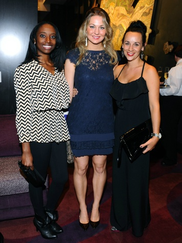 Lucie Bazin-Asamoah, Chelsea Geiger, Kim White at Nasher 10th anniversary
