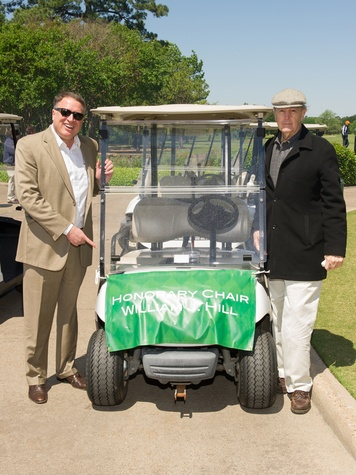 "7 Marc Melcher, left, and William J. ""Bill"" Hill at the Children's Museum Spring Golf Classic April 2014"