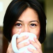 Christine Ha with coffee cup