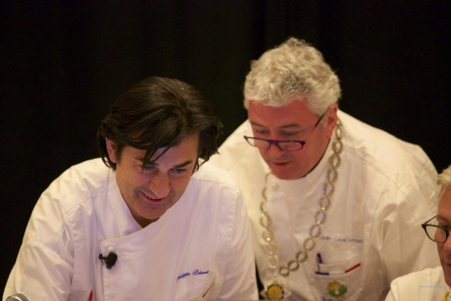 Philippe Schmit and Jean-Louis Dumonet master chefs of France