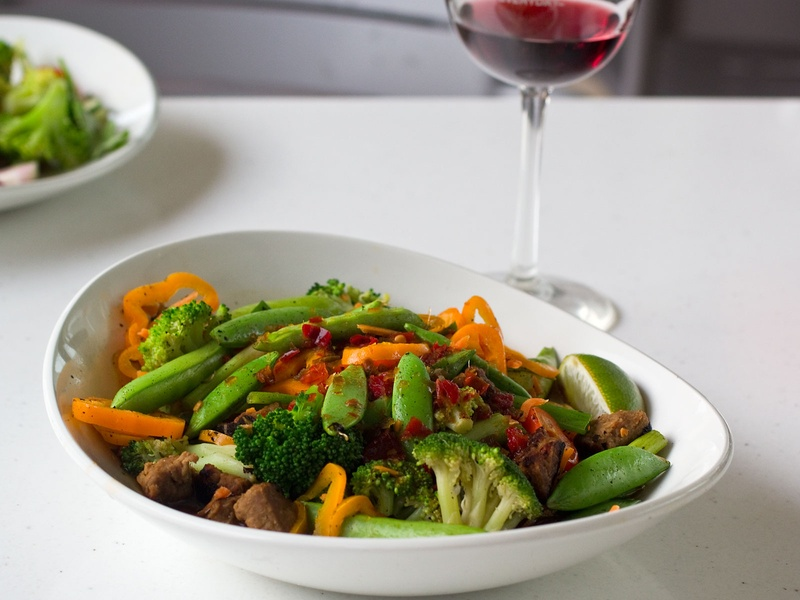 LYFE Kitchen, Beef Tips, Talu0027s Grain Bowl