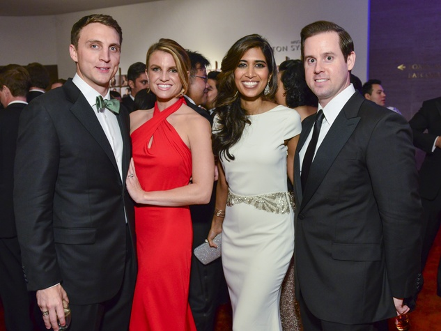 2209 Jason and Lindley Arnoldy, from left, and Divya and Chris Brown at the Houston Symphony Centennial Ball after party May 2014