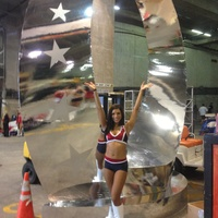 Pro Bowl, Vanessa, Texans cheerleader, January 2013, With the Pro Bowl symbol at Aloha Stadium