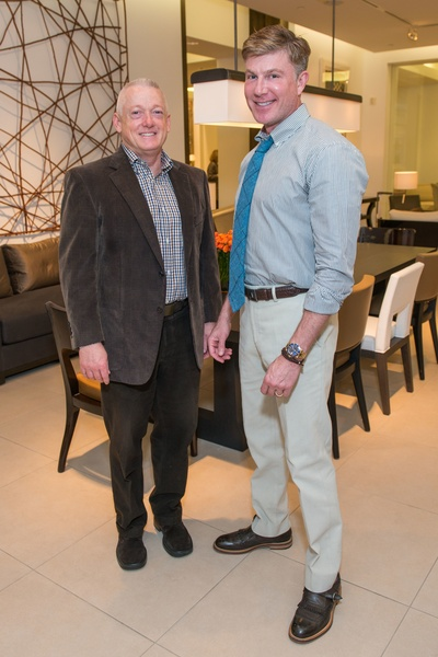 Jim Ewing Left And Randy Powers At The Decorative Center Houston Fall Market October
