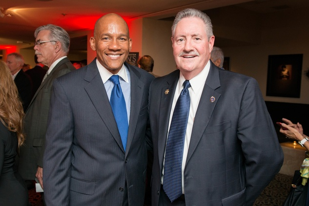 Houston, Crime Stoppers Awards luncheon, May 2015, Sidney Evans, Ron Hickman
