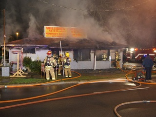 News_Williams Furniture_Conroe_on fire
